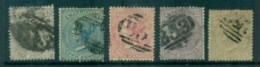 Mauritius 1860-63 QV 1d To 1/- Asst, Faults But No Thins 5x FU Lot78047 - Mauritius (1968-...)