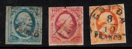 HOLANDA - PAYS BAS  OBLITERÉS  YV. NUMS 1 A 3   CAT. 240E. - Period 1852-1890 (Willem III)