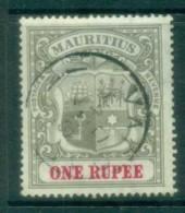 Mauritius 1902 Coat Of Arms 1R Wmk Crown CC FU Lot78060 - Mauritius (1968-...)