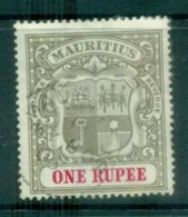 Mauritius 1902 Coat Of Arms 1R Wmk Crown CC FU Lot78061 - Mauritius (1968-...)