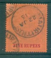 Mauritius 1902 Coat Of Arms 5R FU Lot78063 - Mauritius (1968-...)