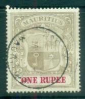 Mauritius 1907 Coat Of Arms 1R FU Lot78062 - Mauritius (1968-...)