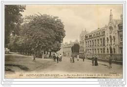 80 SAINT VALERY SUR SOMME - La Rue Jiles Brulé Et L'Avenue Du Jeu De Battoir - Saint Valery Sur Somme