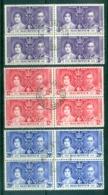 Mauritius 1937 Coronation Blks4 FU - Mauritius (1968-...)