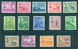Mauritius 1950 KGVI Pictorials To 5r (1r Faulty) MLH/FU - Mauritius (1968-...)
