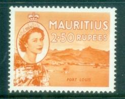 Mauritius 1954 QE Pictorials 2.50r Port Louis MLH - Mauritius (1968-...)