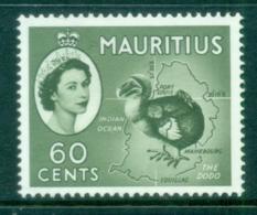 Mauritius 1954 QE Pictorials 60c Dodo Bird MLH - Mauritius (1968-...)