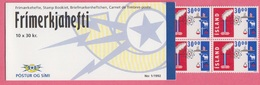 1992 ISLAND ** (sans Charn., MNH, Postfrish)  MH 1/1992 10x Mi 766 - Carnets