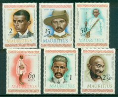 Mauritius 1969 Portraits Of Gandhi MLH - Mauritius (1968-...)