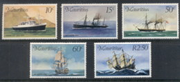 Mauritius 1976 Mail Carriers, Ships MUH - Mauritius (1968-...)