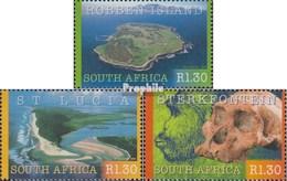 Südafrika 1278-1280 (completa Edizione) Usato 2000 UNESCO Welterbe - South Africa (1961-...)