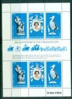 Mauritius 1978 QEII Coronation 25th Anniv MS MUH - Mauritius (1968-...)
