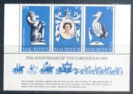 Mauritius 1978 QEII Coronation 25th Anniversary Str3 MUH - Mauritius (1968-...)