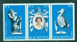 Mauritius 1978 QEII Coronation, 25th Anniversary , Royalty Str 3 MUH - Mauritius (1968-...)