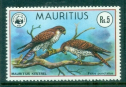 Mauritius 1978 WWF Bird, Kestrel 5r MUH - Mauritius (1968-...)