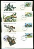Mauritius 1978 WWF,ButterflyGecko, Kestrel, Bat,Franlkin Mint (with Inserts) 4xFDC Lot79618 - Mauritius (1968-...)