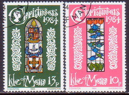 ISLE OF MAN 1984 SG 272-73 Compl.set Used Christmas - Isle Of Man