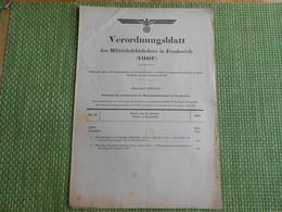 Militaria. Journal Officiel Allemand.N° 20 Du 8 Janvier 1941. Livres De Classe. Services Du Roulage. - Army & War