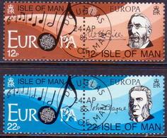 ISLE OF MAN 1985 SG 286-89 Compl.set In Two Horiz.pairs Used Europa. European Music Year - Isle Of Man