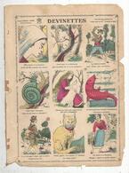 Devinettes , Collection Amusante , 9 Images Demi-format ,imagerie Marcel Vagné , Jarville-Nancy , Frais Fr 1.65 E - Chromos