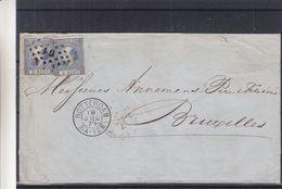 Pays Bas - Lettre De 1871 - Oblit Rotterdam - Exp Vers Bruxelles - Cachet Hollande Par Nord - - Covers & Documents