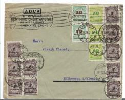 Republik  XX010/ (1919-1923) , Spät-November-Brief 30.11.23, Chemnitz Nach Mülhausen/Elsass - Allemagne