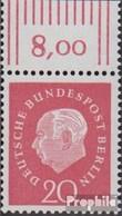 Berlin (West) 184 Oberrandstück Postfrisch 1959 Heuss - Berlin (West)