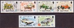 ISLE OF MAN 1985 SG 290-95 Compl.set In Three Horiz.pairs Used Century Of Motoring - Isle Of Man