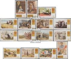North-Korea 1078-1092 (complete.issue.) Unmounted Mint / Never Hinged 1972 Kim II Sung: Propagandagemälde - Korea, North