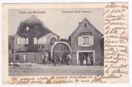Gruss Aus Marlenheim - Spezereihdl. Xaver Dahlmann ( Animation) Circulé 1909, Précurseur - France
