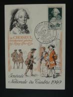 Carte Maximum Card Histoire Postale Postal History Choiseul Journée Du Timbre Paris 1949 - Cartoline Maximum