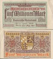 Bavière Rosenbg: BAY13b Länderbanknote Bavière Utilisé (III) 1923 5 M. Mark - 1918-1933: Weimarer Republik