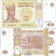 Moldawien Pick-number: 8i Uncirculated 2013 1 Leu - Moldova