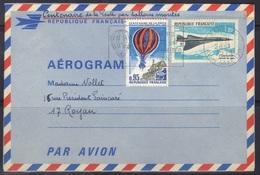 Aérogramme Avec Complément D'affranchissement, Arrivée Betz (Oise), 1971. - Aérogrammes