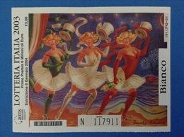 2003 BIGLIETTO LOTTERIA NAZIONALE ITALIA ESTRAZIONE 2004 COLORE BIANCO - Lottery Tickets