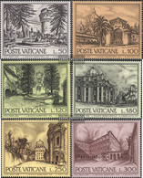 Vatikanstadt 689-694 (complete Issue) Unmounted Mint / Never Hinged 1976 Structures - Unused Stamps
