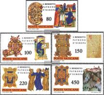 Vatikanstadt 759-763 (complete Issue) Unmounted Mint / Never Hinged 1980 Holy. Benedikt - Unused Stamps