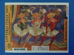 2003 BIGLIETTO LOTTERIA NAZIONALE ITALIA ESTRAZIONE 2004 COLORE ARANCIONE - Lottery Tickets