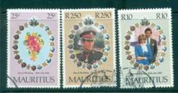 Mauritius 1981 Charles & Diana Wedding FU Lot45085 - Mauritius (1968-...)