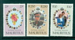 Mauritius 1981 Charles & Diana Wedding MUH Lot30402 - Mauritius (1968-...)