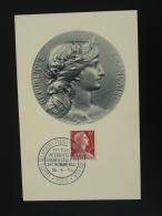 Carte Maximum Card Marianne De Muller Société Des Artistes Paris 1956 - Monnaies