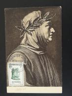 Carte Maximum Card Petrarque écrivain Medieval 84 Avignon Vaucluse 1956 - Maximumkarten