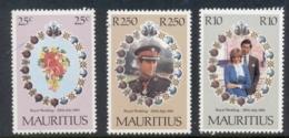 Mauritius 1981 Royal Wedding Charles & Diana MUH - Mauritius (1968-...)
