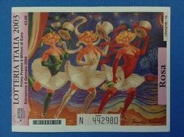 2003 BIGLIETTO LOTTERIA NAZIONALE ITALIA ESTRAZIONE 2004 COLORE ROSA - Biglietti Della Lotteria