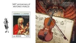 Sierra Leone  2018     Antonio Vivaldi  Violin   S201808 - Sierra Leone (1961-...)