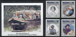 Mauritius 1985 Queen Mother 85th Birthday + MS MUH - Mauritius (1968-...)