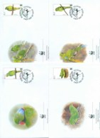Mauritius 2003 WWF Mauritius Parakeet 4xFDC Lot77081 - Mauritius (1968-...)