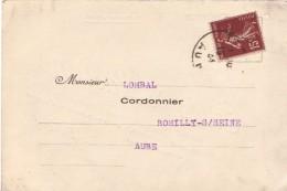 FRANCE : 1934 - Avis De Passage De Troyes Pour Romilly-sur-Seine - Cuirs Et Crépins - Cordonnerie - France