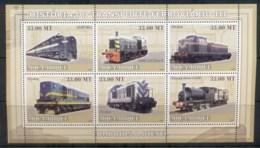 Mozambique 2009 Diesel Trains, Locomotives MS MUH - Mozambique