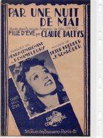 PARTITION MUSIQUE.PAR UNE NUIT DE MAI.FILM FILLE D'EVE.KREUDER.HENRY-LEMARCHAND  Achat Immédiat - Partitions Musicales Anciennes